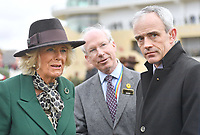 11/03/2020 - Camilla Duchess of Cornwall with Ruby Walsh at Ladies Day during the Cheltenham Festival 2020 at Cheltenham Racecourse, Gloucestershire. Photo Credit: ALPR/AdMedia