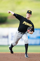 West Virginia Power starting pitcher Justin Topa (19) in action against the Kannapolis Intimidators at CMC-Northeast Stadium on May 1, 2014 in Kannapolis, North Carolina.  The Power defeated the Intimidators 5-4.  (Brian Westerholt/Four Seam Images)