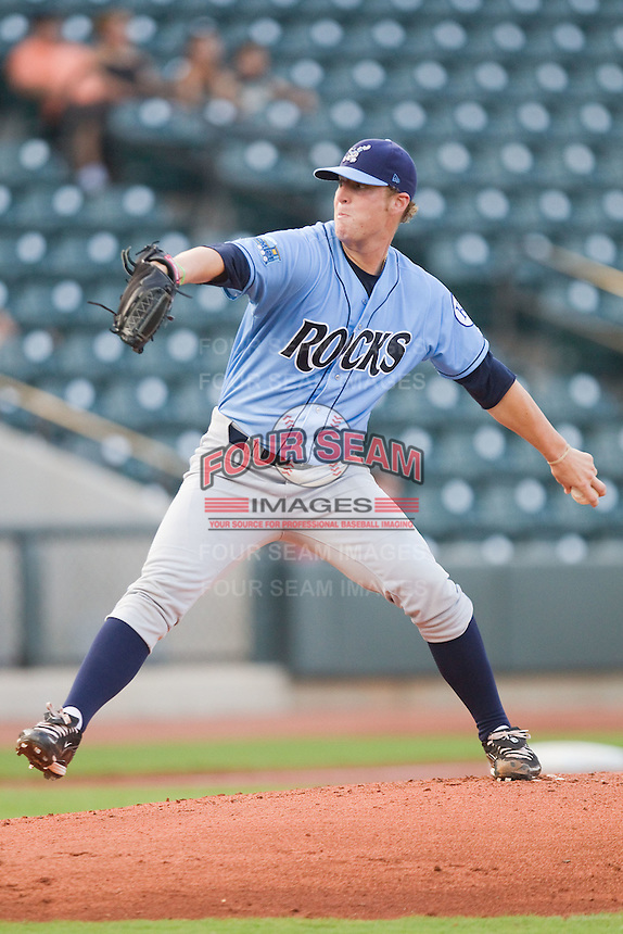 Starting pitcher Will Smith #22 of the Wilmington Blue Rocks in action against the Winston-Salem Dash at  BB&T Ballpark August 4, 2010, in Winston-Salem, North Carolina.  Photo by Brian Westerholt / Four Seam Images