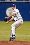 25 April 2004: Zach Day, starting pitcher for the Montreal Expos, during the Expos 2-0 shutout of the visiting Philadelphia Philles at Olympic Stadium in Montreal, Quebec, Canada. Day pitched 8 innings, recording his second win of the 2004 season.Mandatory Credit: Ed Wolfstein Photo..
