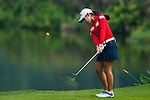 Mi-Hyang Lee of Korea hits her shot during the Hyundai China Ladies Open 2014 on December 10 2014 at Mission Hills Shenzhen, in Shenzhen, China. Photo by Xaume Olleros / Power Sport Images