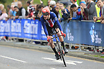 Chad Haga (USA) in action during the Men Elite Individual Time Trial of the UCI World Championships 2019 running 54km from Northallerton to Harrogate, England. 25th September 2019.<br /> Picture: Eoin Clarke | Cyclefile<br /> <br /> All photos usage must carry mandatory copyright credit (© Cyclefile | Eoin Clarke)