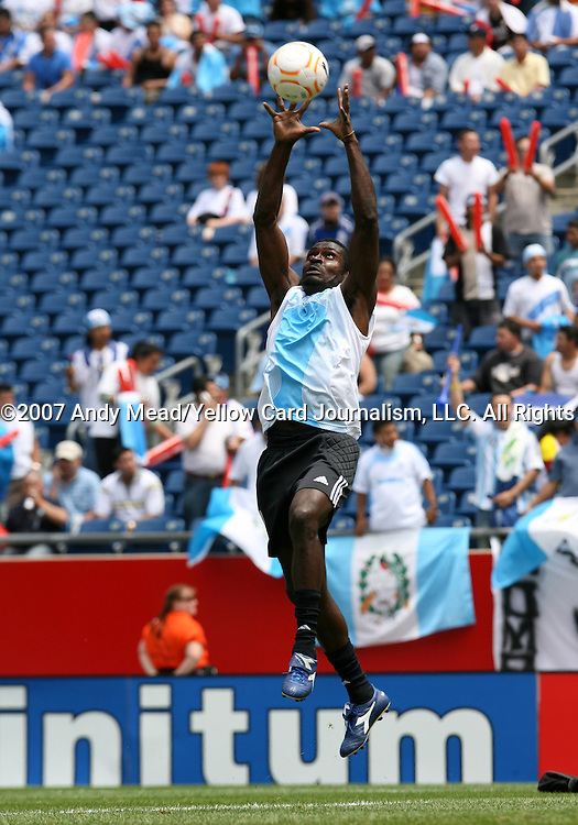 16 June 2007: Guatemala's Ricardo Tregueno. The Canada Men's National team defeated the Guatemala Men's National Team 3-0 at Gillette Stadium in Foxboro, Massachusetts in a 2007 CONCACAF Gold Cup quarterfinal.