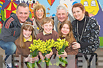 Pictured wrapping daffodils at Lissivigeen National School, Killarney, ahead of daffodil day on Friday, were Jessica Hobbs, Joshua Lyne and Naoise O'Shea with Eugene O'Sullivan, Katrina Breen, Timmy Moriarty, Irish Cancer Society and teacher Ellen Cagney.