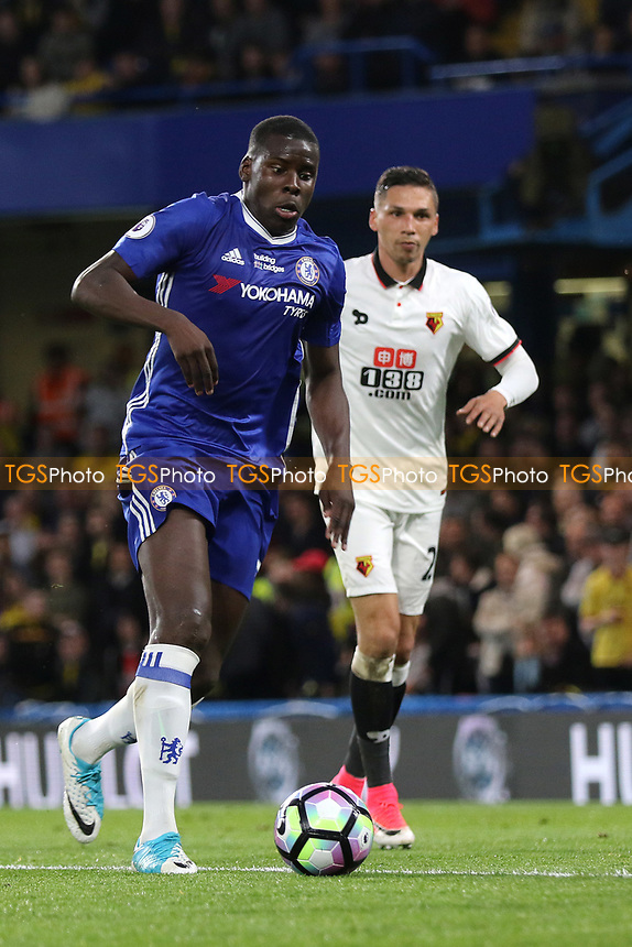 Kurt Zouma of Chelsea in action during Chelsea vs Watford, Premier League Football at Stamford Bridge on 15th May 2017