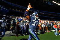 Sep 25, 2005; Seattle, WA, USA; Seattle Seahawks running back #37 Shaun Alexander runs onto the field prior to the game against the Arizona Cardinals at Qwest Field. Mandatory Credit: Photo By Mark J. Rebilas