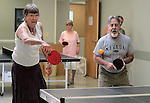 Betty Young and Wayne Lenhares play ping pong at the Carson City Senior Citizen Center in Carson City, Nev., on Wednesday, Aug. 22, 2012..Photo by Cathleen Allison