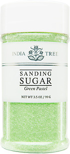 10233 Green Pastel Sanding Sugar, Small Jar 3.5 oz, India Tree Storefront