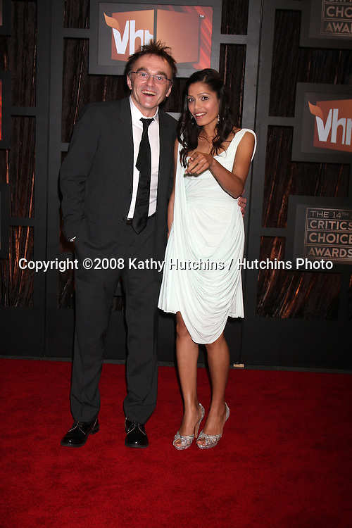 Freida Pinto & Guest  arriving at the  Critic's Choice Awards at the Santa Monica Civic Center, in Santa Monica , CA on .January 8, 2009.©2008 Kathy Hutchins / Hutchins Photo..                .