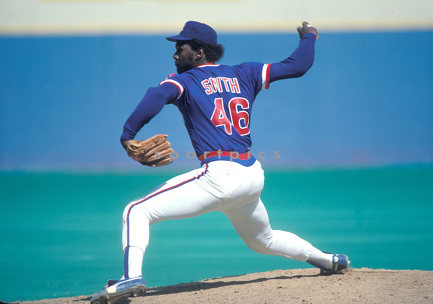 Chicago Cubs Lee Smith(23) in action during a game from his 1984 season. Lee Smith played for 18 years  with 8 different teams and was a 7-time All-Star.David Durochik/SportPics