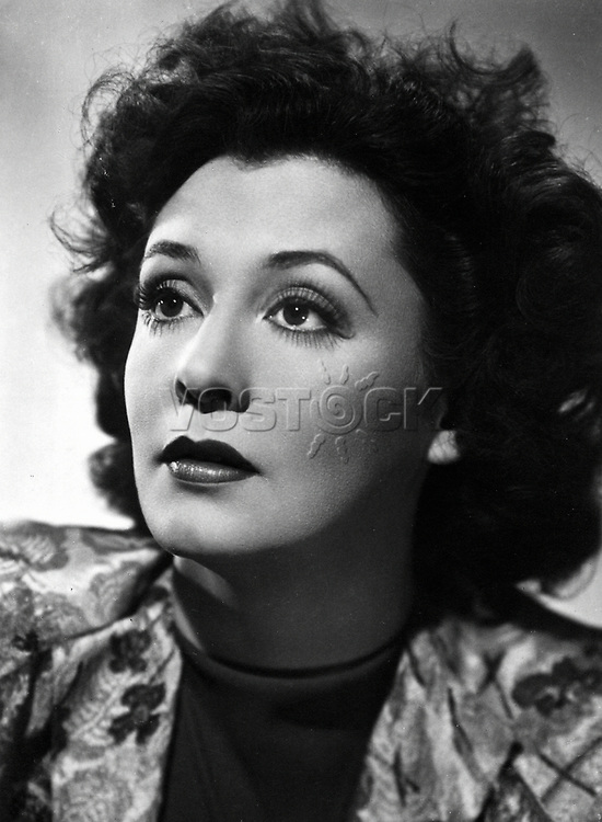 Zarah Leander, 15.3.1907 - 23.6.1981, Swedish actress and singer, portrait, PR photo for movie The Way to Freedom, DEU 1941, director: Rolf Hansen.