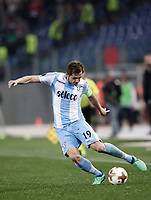 Europa League quarter-final 1st leg <br /> S.S. Lazio - FC Salzburg  Olympic Stadium Rome, April 5, 2018.<br /> Lazio's captain Senad Lulic in action during the Europa League match between Lazio and Salzburg at Rome's Olympic stadium, April 5, 2018.<br /> UPDATE IMAGES PRESS/Isabella Bonotto