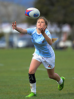 Action from the 2019 Hurricanes Youth Council Under-15 Girls' Rugby Tournament match between Ngati Porou East Coast and Mana College at Playford Park in Levin, New Zealand on Tuesday, 3 September 2018. Photo: Dave Lintott / lintottphoto.co.nz