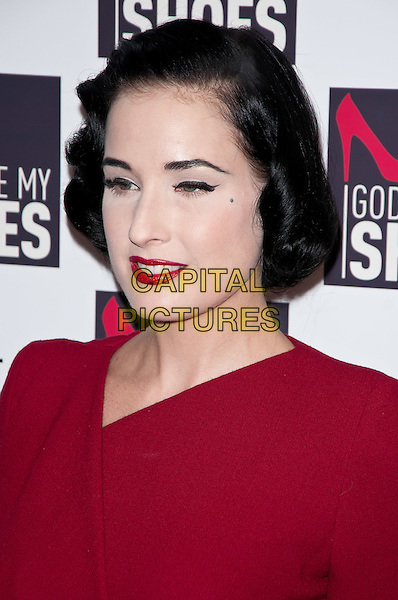 "Dita Von Teese.""God Save My Shoes"" New York Premiere, New York, NY, USA..September 7th, 2011.headshot portrait red lipstick .CAP/ADM/CS.©Christopher Smith/AdMedia/Capital Pictures."