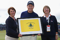 144th Open St Andrews 2015 Carnoustie Presentation to Tom Watson