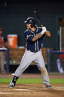 New Hampshire Fisher Cats designated hitter K.C. Hobson (28) at bat during a game against the Harrisburg Senators on July 21, 2015 at Metro Bank Park in Harrisburg, Pennsylvania.  New Hampshire defeated Harrisburg 7-1.  (Mike Janes/Four Seam Images)