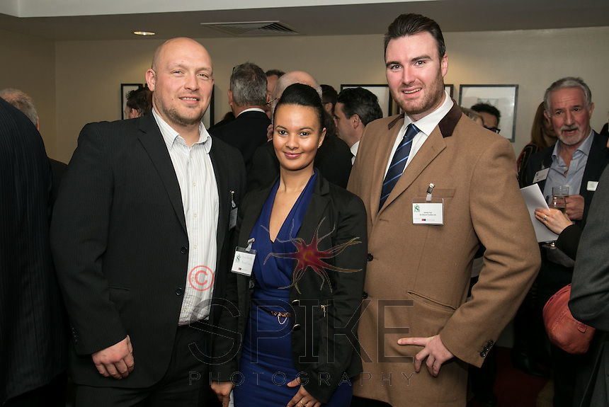 Connie Burbidge is flanked by Andy Whyles (left) and James Fay, both from All About Tourism