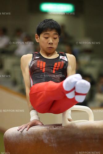 Kanato Nagasaki (), <br /> AUGUST 21, 2017 - Artistic Gymnastics : <br /> 48th All Japan Junior High School Championships <br /> Men's Individual All-Around <br /> Pommel Horse <br /> at Kitakyushu City General Gymnasium, Fukuoka, Japan. <br /> (Photo by YUTAKA/AFLO)