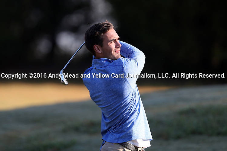 30 October 2016: Georgia State University's Alexander Hermann (GER). The First  and Second Rounds of the 2016 Bridgestone Golf Collegiate NCAA Men's Golf Tournament hosted by the University of North Carolina Greensboro Spartans was held on the West Course at the Grandover Resort in Greensboro, North Carolina.