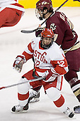 Brad Zancanaro, Brian Boyle - The Boston University Terriers defeated the Boston College Eagles 2-1 in overtime in the March 18, 2006 Hockey East Final at the TD Banknorth Garden in Boston, MA.