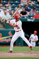 Springfield Cardinals center fielder Oscar Mercado (26) at bat during a game against the San Antonio Missions on June 4, 2017 at Hammons Field in Springfield, Missouri.  San Antonio defeated Springfield 6-1.  (Mike Janes/Four Seam Images)
