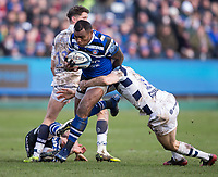 Bath Rugby's Semesa Rokoduguni in action during todays match<br /> <br /> Photographer Bob Bradford/CameraSport<br /> <br /> Gallagher Premiership - Bath Rugby v Bristol Bears - Sunday 1st March 2020 - The Recreation Ground - Bath<br /> <br /> World Copyright © 2020 CameraSport. All rights reserved. 43 Linden Ave. Countesthorpe. Leicester. England. LE8 5PG - Tel: +44 (0) 116 277 4147 - admin@camerasport.com - www.camerasport.com