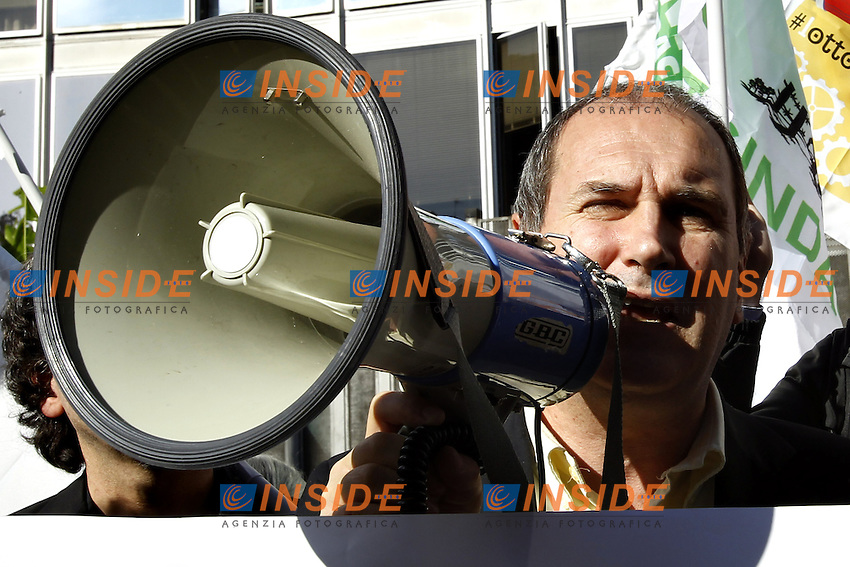 Paolo Ferrero.Roma 21/11/2012 Viale Mazzini Flash mob contro la censura RAI sui referendum .Photo Matteo Ciambelli / Insidefoto