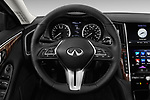 Car pictures of steering wheel view of a 2018 Infiniti Q50 LUXE 4 Door Sedan Steering Wheel