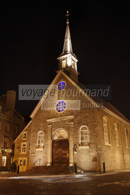 Am&eacute;rique/Am&eacute;rique du Nord/Canada/Qu&eacute;bec/ Qu&eacute;bec: <br /> Eglise Notre-Dame-des-Victoires, sur la place Royale de Qu&eacute;bec est situ&eacute;e dans la Basse-Ville dans l'arrondissement historique du Vieux-Qu&eacute;bec; vieille ville class&eacute;e Patrimoine Mondial de l'UNESCO
