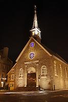 Amérique/Amérique du Nord/Canada/Québec/ Québec: <br /> Eglise Notre-Dame-des-Victoires, sur la place Royale de Québec est située dans la Basse-Ville dans l'arrondissement historique du Vieux-Québec; vieille ville classée Patrimoine Mondial de l'UNESCO