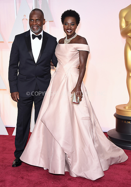 WWW.ACEPIXS.COM<br /> <br /> February 22 2015, Los Angeles Ca.<br /> <br /> Actress Viola Davis (R) and Julius Tennon arriving at the 87 th Annual Academy Awards at the Hollywood and Highland center on February 22 2015 in Hollywood CA.<br /> <br /> <br /> Please byline: Z15/ACE Pictures<br /> <br /> ACE Pictures, Inc.<br /> www.acepixs.com<br /> Email: info@acepixs.com<br /> Tel: 646 769 0430