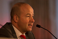 FAW chief executive Jonathan Ford during a press conference unveiling Ryan Giggs as the new Wales National team Manager at Hensol Castle, Vale of Glamoran, on 15 January 2018. Photo by Mark Hawkins.