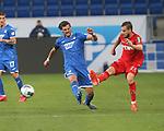 Florian Grillitsch (TSG 1899 Hoffenheim) und Dominik Drexler (1.FC Köln)<br /> <br /> Foto: POOLFOTO/Avanti/Ralf Poller/PIX-Sportfotos.<br /> TSG 1899 Hoffenheim-1. FC Koeln.<br /> Sinsheim,  GER, 27.05.2020 , 28. Spieltag , Fussball 1. Bundesliga 2019/2020.<br /> <br /> Sport: Fussball: LIGA: Saison 19/20: TSG 1899 Hoffenheim- 1.FC Koeln, 27.05.2020.<br /> Foto: RALF POLLER/AVANTI/POOL<br /> <br /> Nur für journalistische Zwecke! Only for editorial use! <br /> Gemäß den Vorgaben der DFL Deutsche Fußball Liga ist es untersagt, in dem Stadion und/oder vom Spiel angefertigte Fotoaufnahmen in Form von Sequenzbildern und/oder videoähnlichen Fotostrecken zu verwerten bzw. verwerten zu lassen. DFL regulations prohibit any use of photographs as image sequences and/or quasi-video.