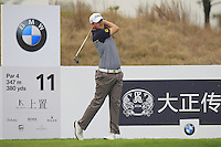 Bernd Wiesberger (AUT) tees off the 11th tee during Friday's Round 2 of the 2014 BMW Masters held at Lake Malaren, Shanghai, China 31st October 2014.<br /> Picture: Eoin Clarke www.golffile.ie
