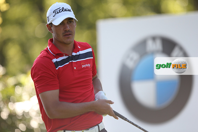 Brooks Koepka (USA) drives the 17th during Round One of the 2015 BMW PGA Championship over the West Course at Wentworth, Virginia Water, London. 21/05/2015Picture David Lloyd, www.golffile.ie.