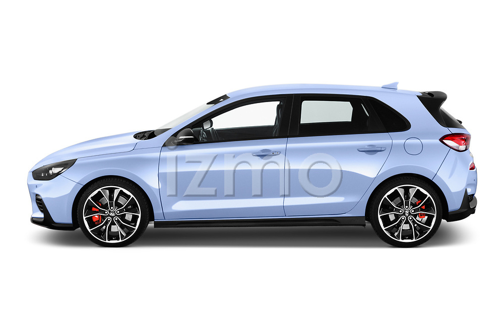 Car driver side profile view of a 2018 Hyundai i30 N Performance Pack Select Doors Door Hatchback