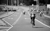 Bernie Eisel (AUT) in TT-mode<br /> <br /> Eneco Tour 2013<br /> stage 5: ITT<br /> Sittard-Geleen 13,2km
