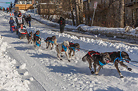 Charley Bejna on Cordova St. hill during the Anchorage start day of Iditarod 2018 on Cordova St. hill during the Anchorage start day of Iditarod 2019