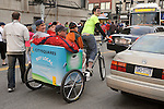Rickshaw- Clevergreen peddle taxi.