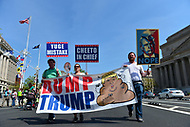 Washington, DC - April 15, 2017: Thousands of people participate in the Trump Tax Protest during a rally at the U.S. Capitol and march along Pennsylvania Avenue,  April 15, 2017. This march is one of many across the United States protesting President Trump's failure to release his federal income taxes as tax day approaches. (Photo by Don Baxter/Media Images International)