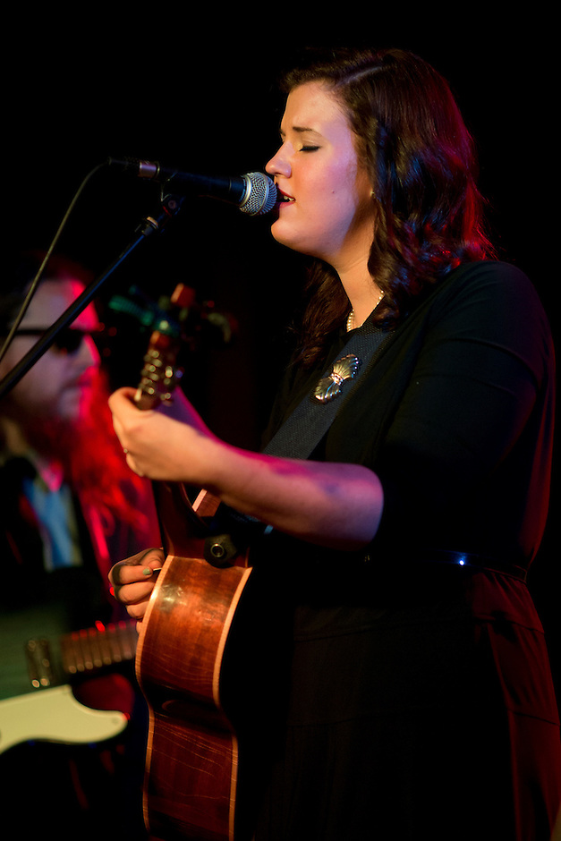 Lydia Rogers of The Secret Sisters performs on Sunday, July 13, 2014, at The Hi-Fi in Indianapolis. (Photo by James Brosher)