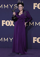 LOS ANGELES - SEPTEMBER 22:  Alex Borstein with the award for Outstanding Supporting Actress in a Comedy Series at the 71st Primetime Emmy Awards at the Microsoft Theatre on September 22, 2019 in Los Angeles, California. (Photo by Xavier Collin/Fox/PictureGroup)