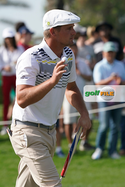 Bryson DeChambeau (USA) during the third round of the Omega Dubai Desert Classic, Emirates Golf Club, Dubai, UAE. 26/01/2019<br /> Picture: Golffile | Phil Inglis<br /> <br /> <br /> All photo usage must carry mandatory copyright credit (© Golffile | Phil Inglis)