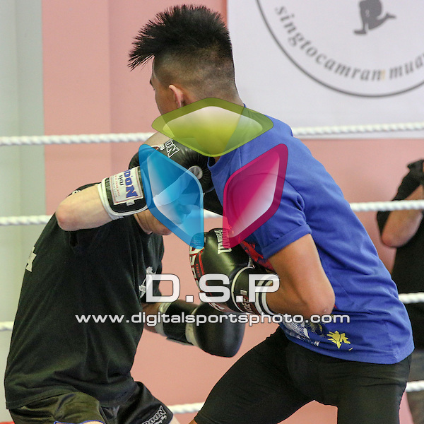 Singtocamram Muay Thai Gym Interclub 4. Photo by: Stephen Smith.<br /> <br /> Singtocamram Gym Interclub 4 - Sunday 20th March 2016. Singtocamram Gym, Salisbury, Wiltshire, United Kingdom.