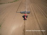 63801-10108 Farmer planting corn-aerial Marion Co. IL