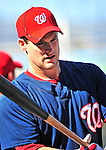 21 June 2010: Washington Nationals' outfielder Josh Willingham warms up prior to a game against the Kansas City Royals at Nationals Park in Washington, DC. The Nationals edged out the Royals 2-1 in the first game of their 3-game interleague series, snapping a 6-game losing streak. Mandatory Credit: Ed Wolfstein Photo