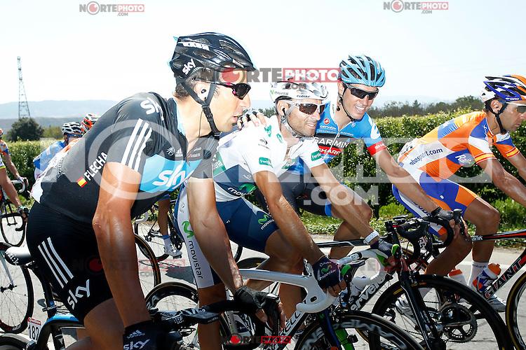 Juan Antonio Flecha (l) and Alejandro Valverde during the stage of La Vuelta 2012 between Logroño and Logroño.August 22,2012. (ALTERPHOTOS/Paola Otero) /NortePhoto.com<br /> <br /> **SOLO*VENTA*EN*MEXICO**<br /> **CREDITO*OBLIGATORIO**<br /> *No*Venta*A*Terceros*<br /> *No*Sale*So*third*<br /> *** No Se Permite Hacer Archivo**<br /> *No*Sale*So*third*