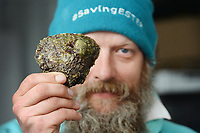 BNPS.co.uk (01202) 558833. <br /> Pic: ZacharyCulpin/BNPS<br /> <br /> The Lone Ranger - Britain's last natural Oyster gatherer Christopher Ranger on The Fal estuary.<br /> <br /> A concerned oyster fisherman is crowdfunding to set up his very own 'micro-hatchery' in a bid to restore the UK's dwindling stocks of the shellfish.<br /> <br /> Chris Ranger, 44, currently runs Britain's last surviving oyster fishery on the River Fal in Mylor Churchtown, Cornwall.<br /> <br /> The site has been a hotbed for oyster activity for thousands of years but they are now on the brink of vanishing after years of overfishing.