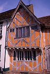 Little Hall, Lavenham, Suffolk, England. Little Hall is a late 14th Century Hall House on the main square in the picturesque village of Lavenham
