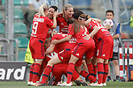 Olympique Lyonnais's players celebrate goal during UEFA Women's Champions League 2015/2016 Final match.May 26,2016. (ALTERPHOTOS/Acero)